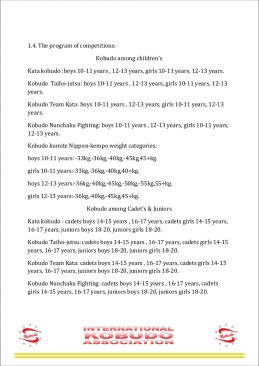 Regulations Euro Cup Kobudo among children  15-17 march page3
