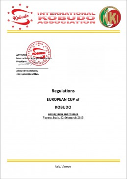 Regulations European Cup of Italia 21 and elder page1