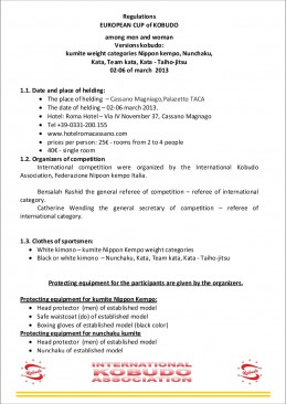 Regulations European Cup of Italia 21 and elder page2
